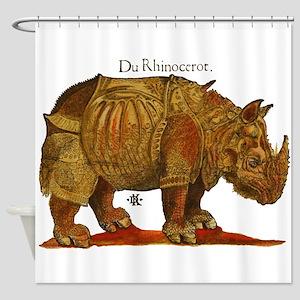 Rhino Durers Rhinoceros Vintage Shower Curtain