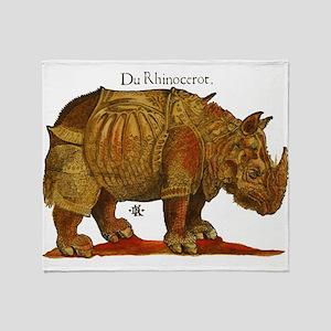 Rhino Durers Rhinoceros Vintage Throw Blanket