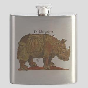 Rhino Durers Rhinoceros Vintage Flask