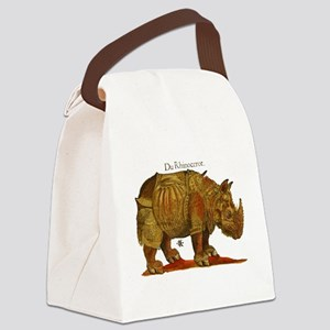 Rhino Durers Rhinoceros Vintage Canvas Lunch Bag