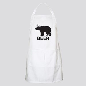 Beer. Bear with Deer Antlers Apron
