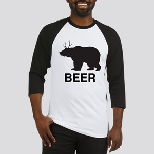 Beer. Bear with Deer Antlers Baseball Jersey