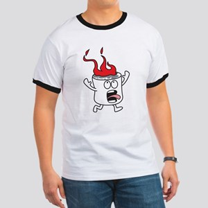 Flaming Marshmallow T-Shirt