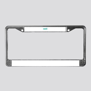 Swell License Plate Frame