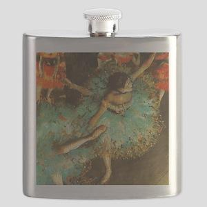 Degas Dancer Green Ballet Impressionist Flask