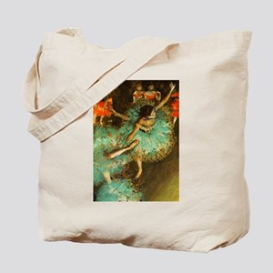 Degas Dancer Green Ballet Impressionist Tote Bag