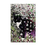 Freckles Tux Cat Flowers I Mini Poster Print