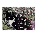 Freckles Tux Cat Flowers I 5'x7'Area Rug