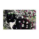 Freckles Tux Cat Flowers I 35x21 Wall Decal