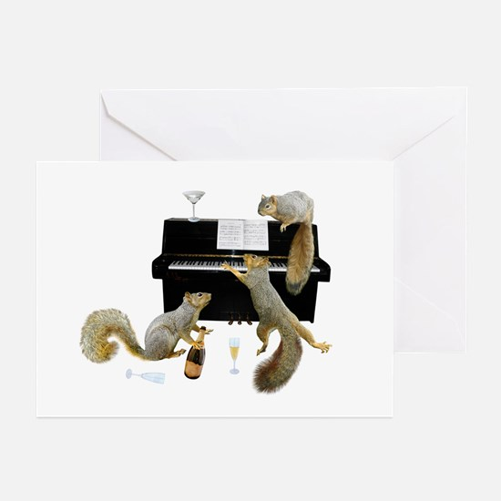 Squirrels at the Piano Greeting Cards (Pk of 20)