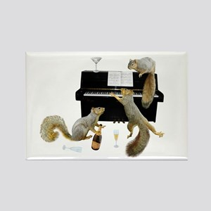 Squirrels at the Piano Rectangle Magnet
