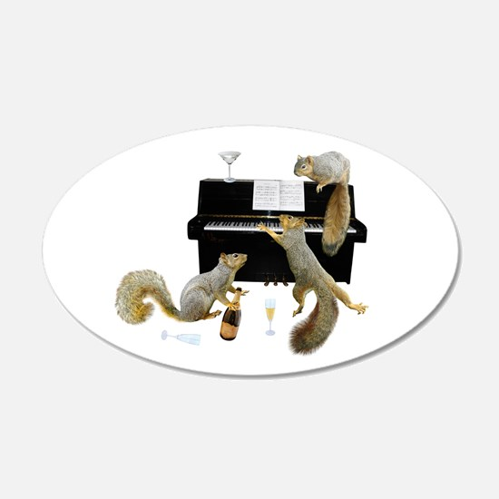 Squirrels at the Piano Wall Decal