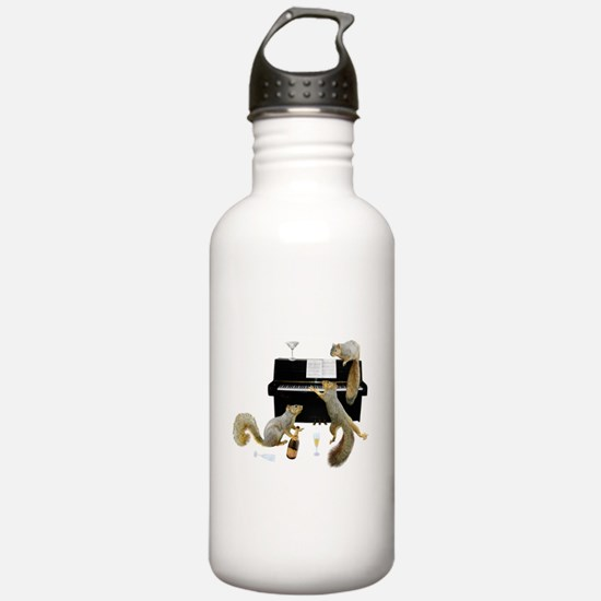 Squirrels at the Piano Water Bottle