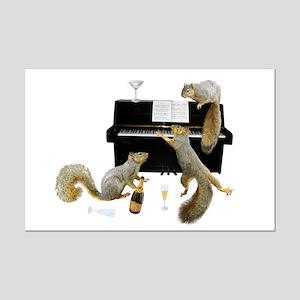 Squirrels at the Piano Mini Poster Print