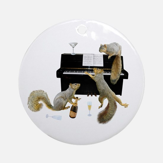 Squirrels at the Piano Ornament (Round)