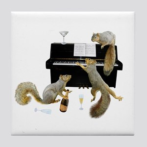 Squirrels at the Piano Tile Coaster
