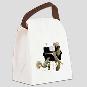 Squirrels at the Piano Canvas Lunch Bag
