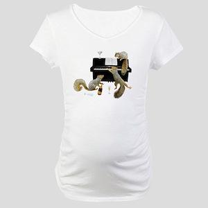 Squirrels at the Piano Maternity T-Shirt