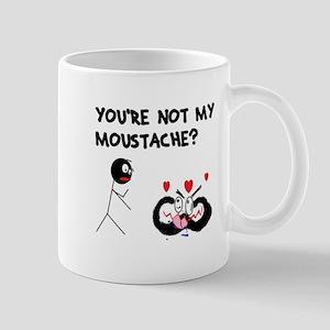 Moustache Madness Small Mug
