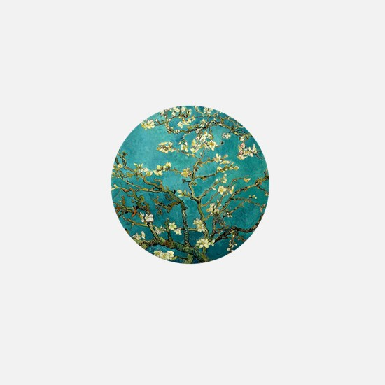 Van Gogh Almond Blossoms Tree Mini Button