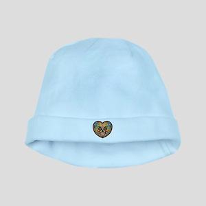 I Love EL Dia DE LOS MUERTOS baby hat