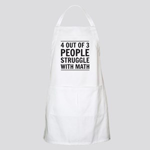 4 out of 3 people struggle with math Apron