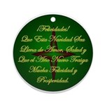 Christmas Holiday Adorno Navidad Ornament (round)