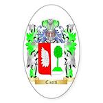 Cicotti Sticker (Oval 50 pk)
