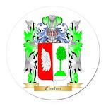 Cicolini Round Car Magnet