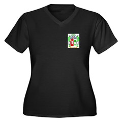 Cicco Women's Plus Size V-Neck Dark T-Shirt