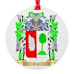 Cicci Round Ornament