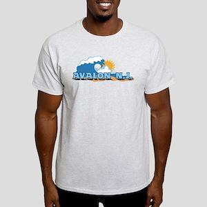 Avalon NJ - Waves Design T-Shirt