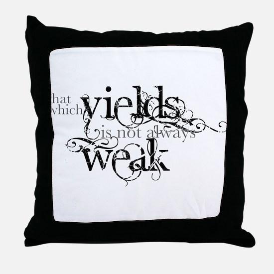 Yielding Throw Pillow