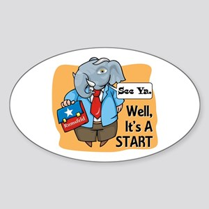 Rumsfeld Retires Republican E Oval Sticker