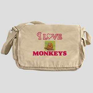 I Love Monkeys Messenger Bag