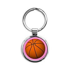 Basketball Mom Round Keychain