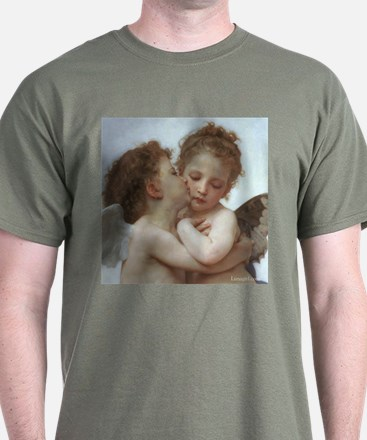 Baby Angels Kiss Bouguereau Painting T-Shirt