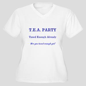 T.E.A. PARTY Plus Size T-Shirt