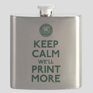 Keep Calm Fed Parody Flask
