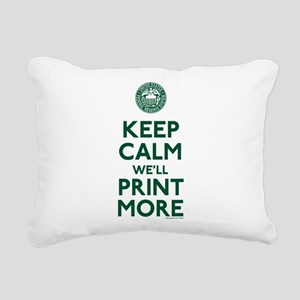 Keep Calm Fed Parody Rectangular Canvas Pillow