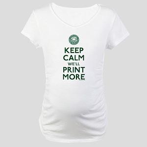 Keep Calm Fed Parody Maternity T-Shirt