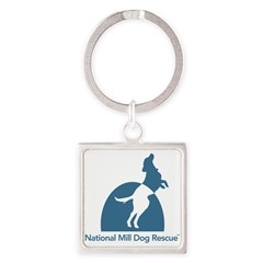 National Mill Dog Rescue Square Keychain