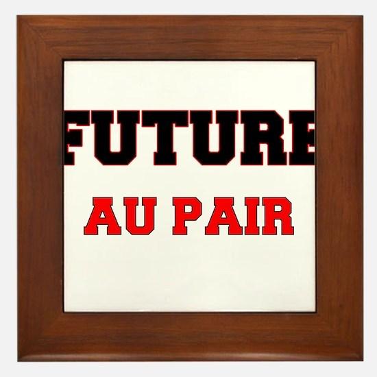 Future Au Pair Framed Tile