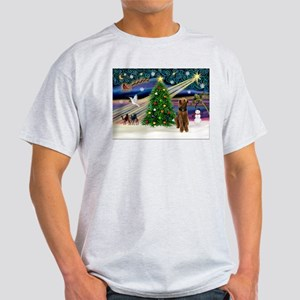 Xmas Magic & Airedale (#1) Light T-Shirt