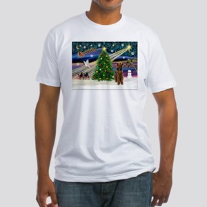 Xmas Magic & Airedale (#1) Fitted T-Shirt