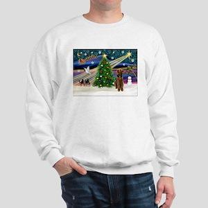 Xmas Magic & Airedale (#1) Sweatshirt