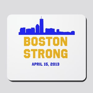 Boston Strong Blue and Gold Skyline Mousepad