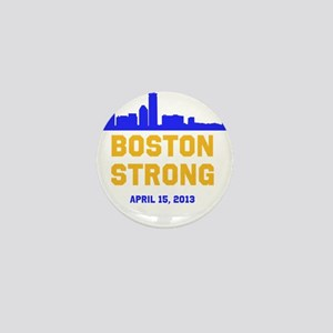 Boston Strong Blue and Gold Skyline Mini Button