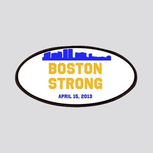 Boston Strong Blue and Gold Skyline Patches