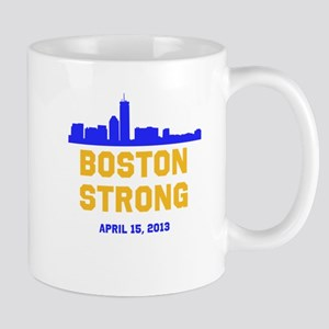 Boston Strong Blue and Gold Skyline Mug